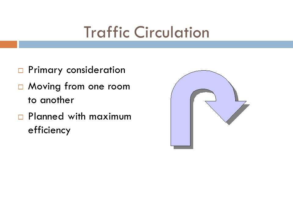 Traffic Circulation Primary consideration