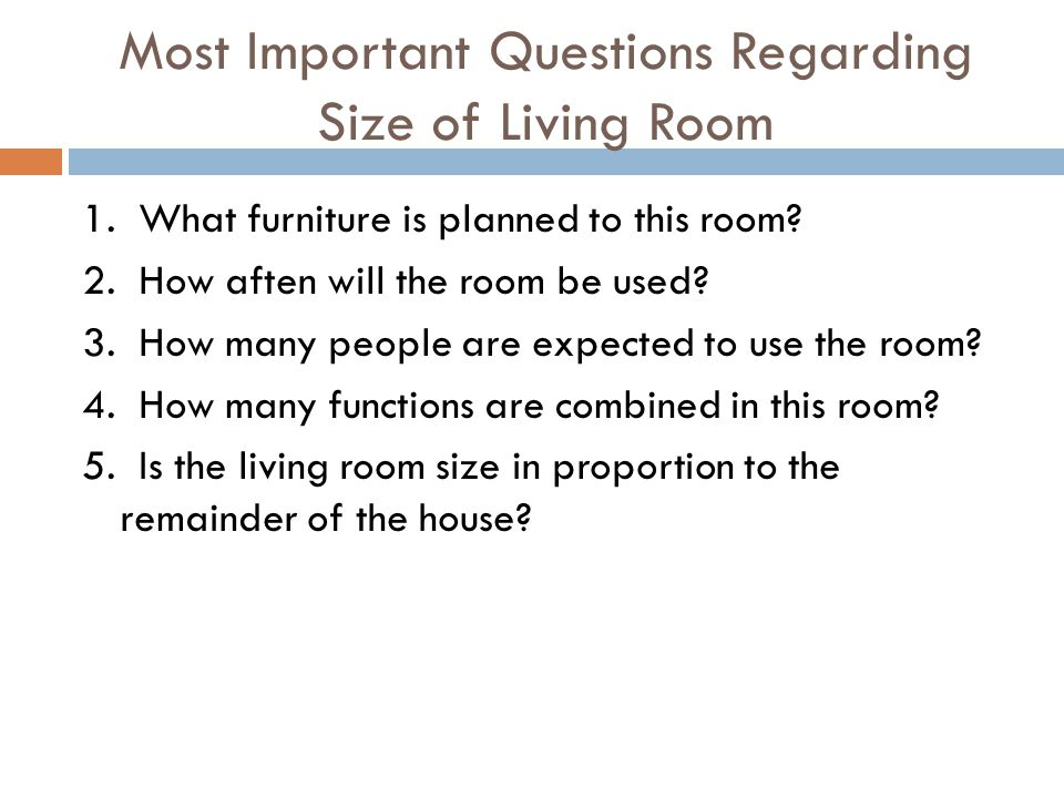 Most Important Questions Regarding Size of Living Room