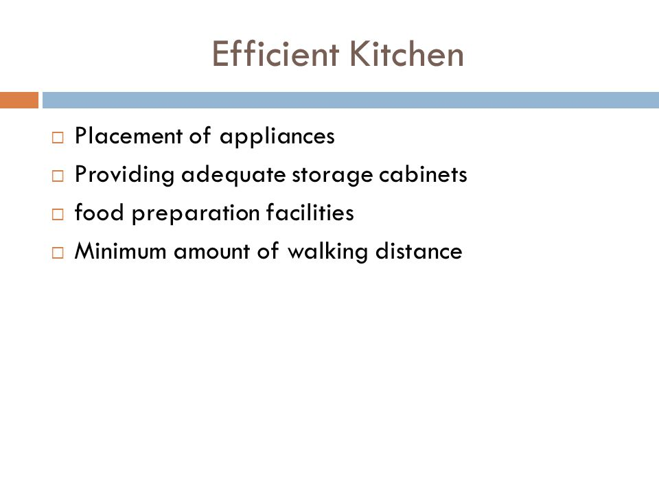 Efficient Kitchen Placement of appliances