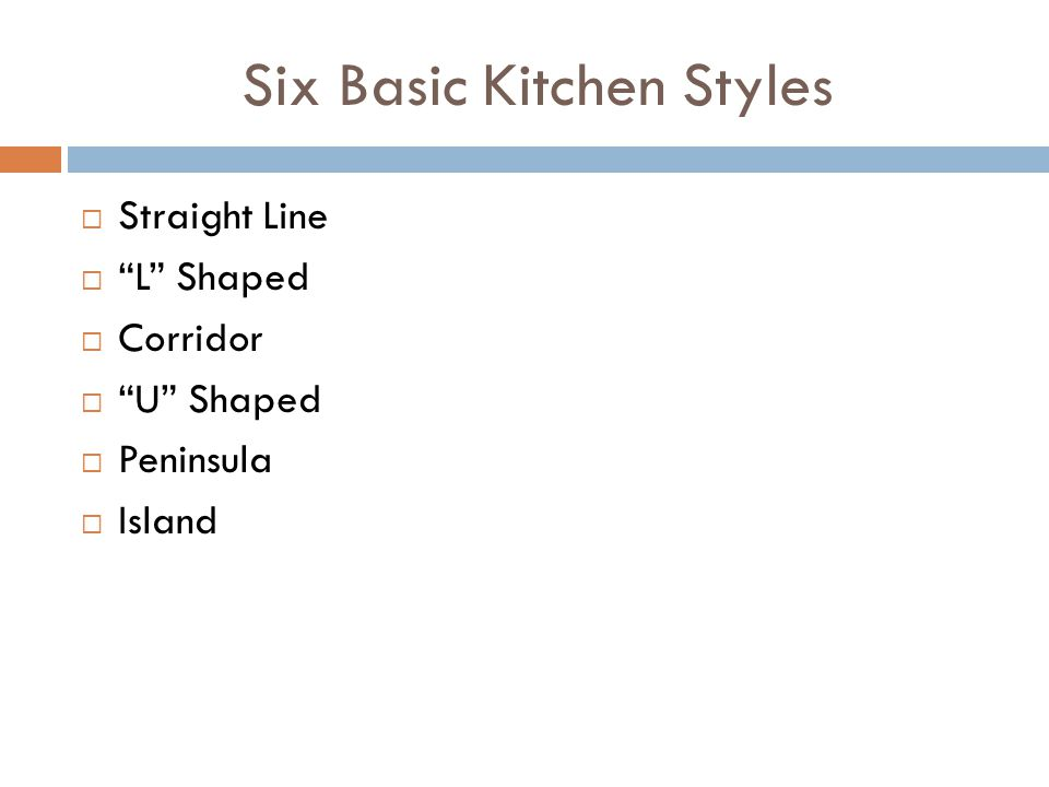 Six Basic Kitchen Styles