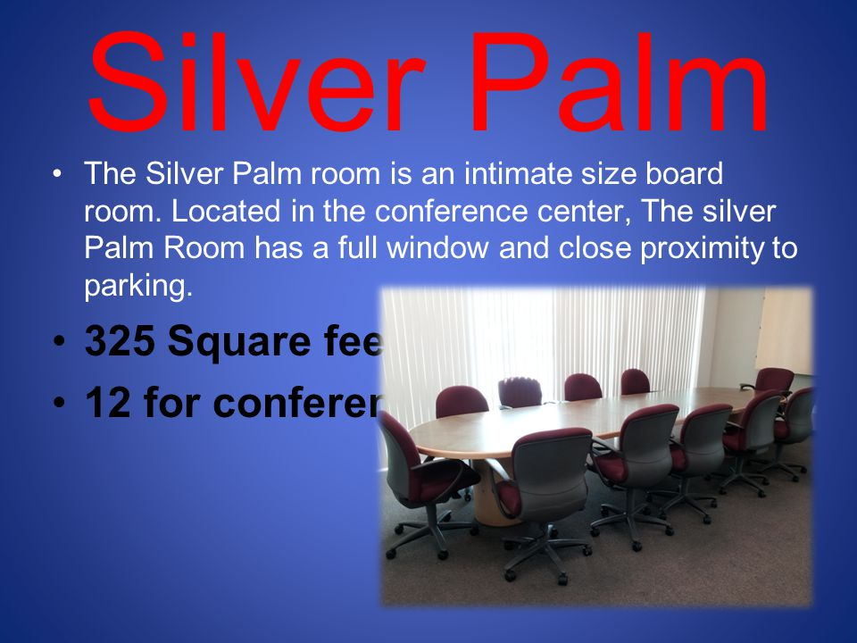 Silver Palm 325 Square feet 12 for conference