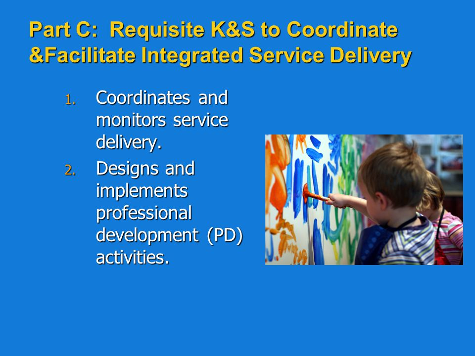Part C: Requisite K&S to Coordinate &Facilitate Integrated Service Delivery