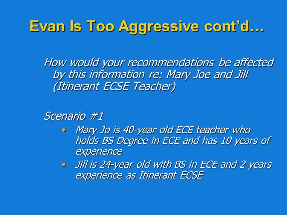 Evan Is Too Aggressive cont'd…