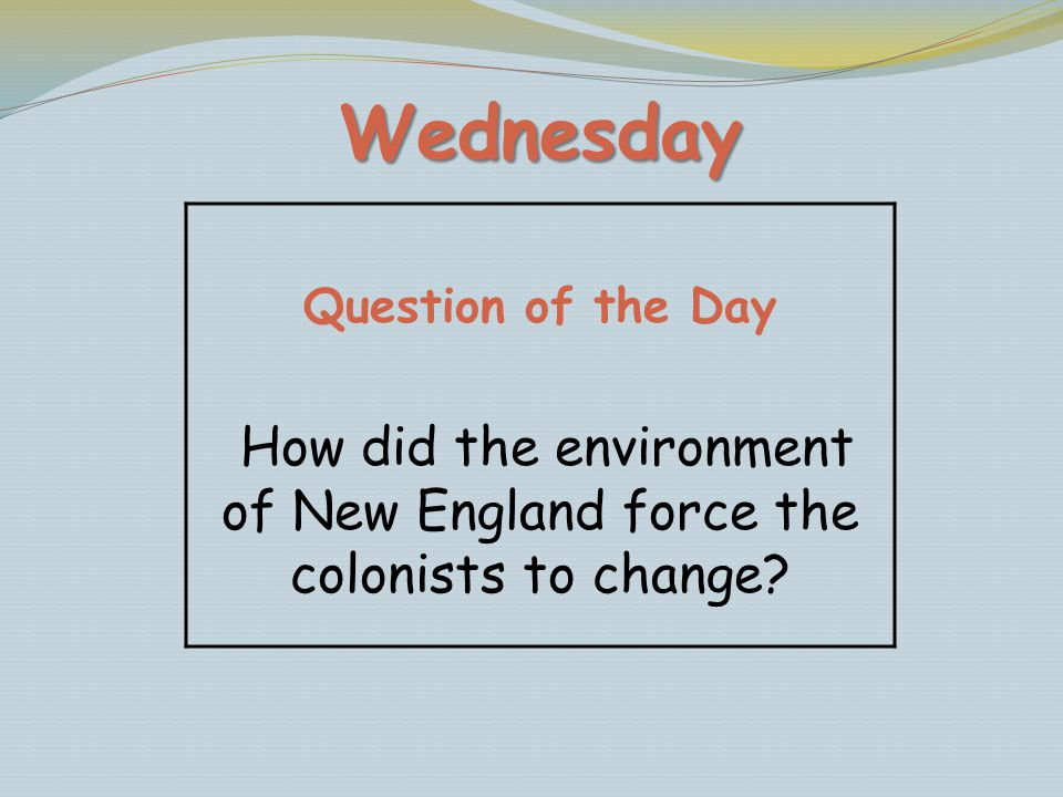 How did the environment of New England force the colonists to change