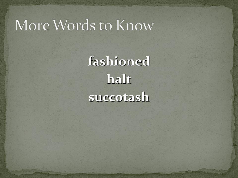 fashioned halt succotash