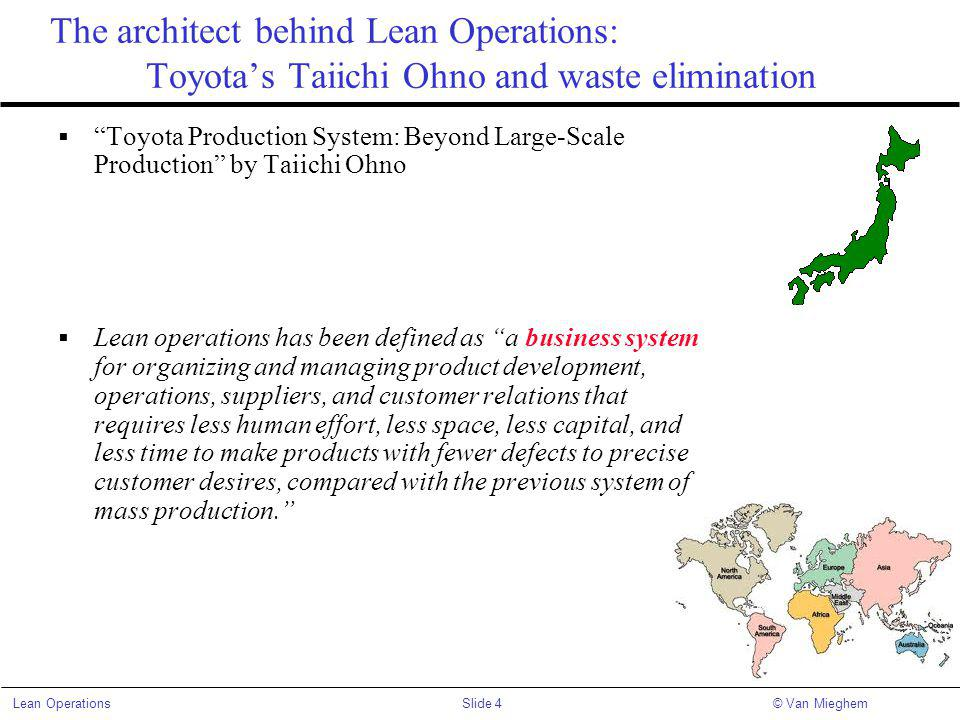 The architect behind Lean Operations: