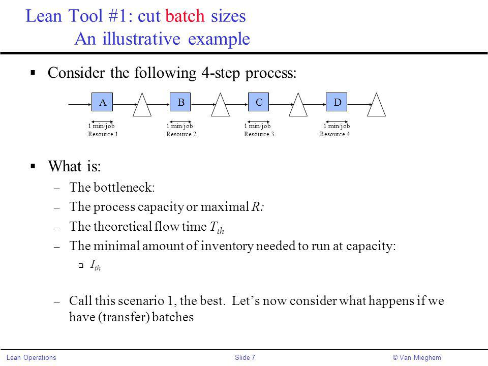 Lean Tool #1: cut batch sizes An illustrative example