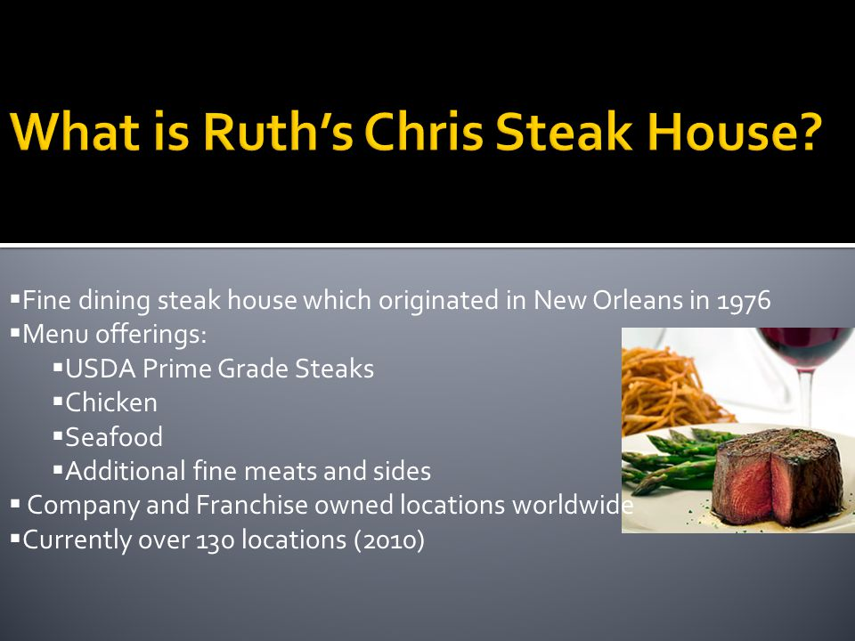 What is Ruth's Chris Steak House