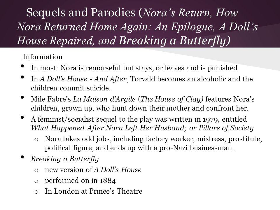 Sequels and Parodies (Nora's Return, How Nora Returned Home Again: An Epilogue, A Doll's House Repaired, and Breaking a Butterfly)