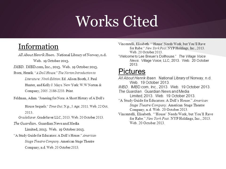 Works Cited Information Pictures