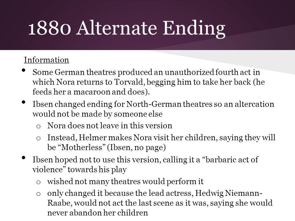 1880 Alternate Ending Information