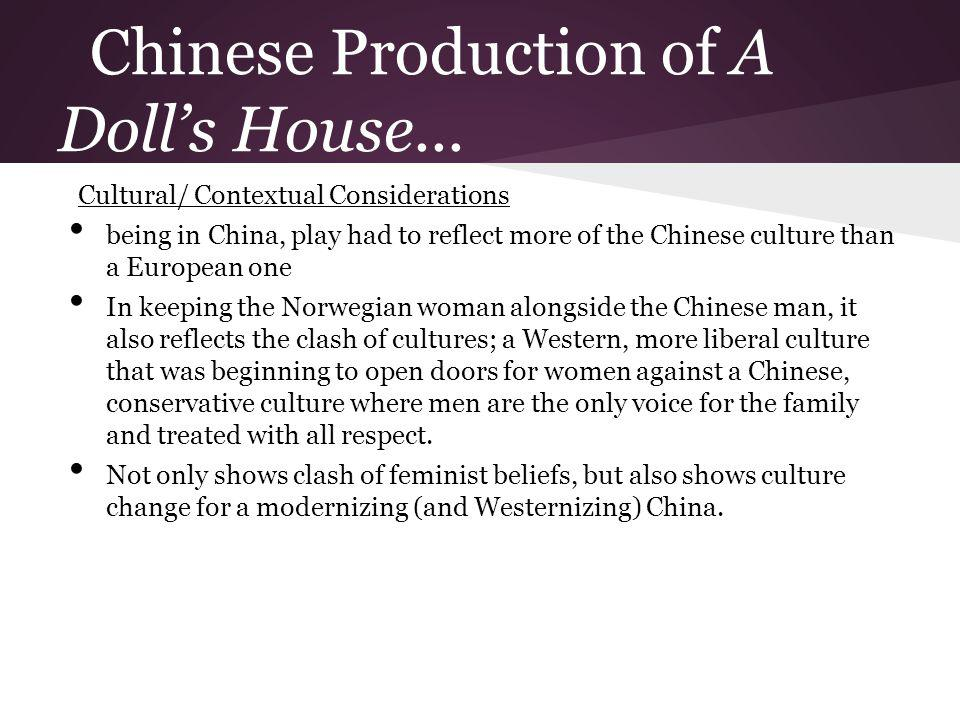 Chinese Production of A Doll's House...