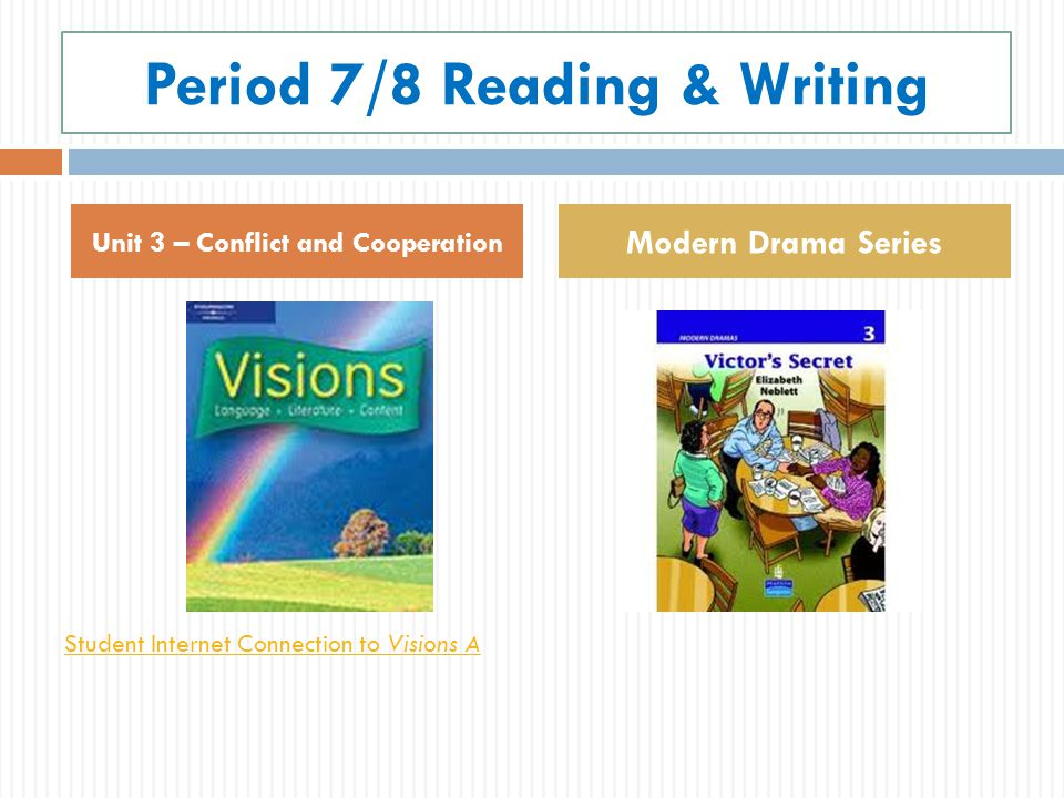Period 7/8 Reading & Writing