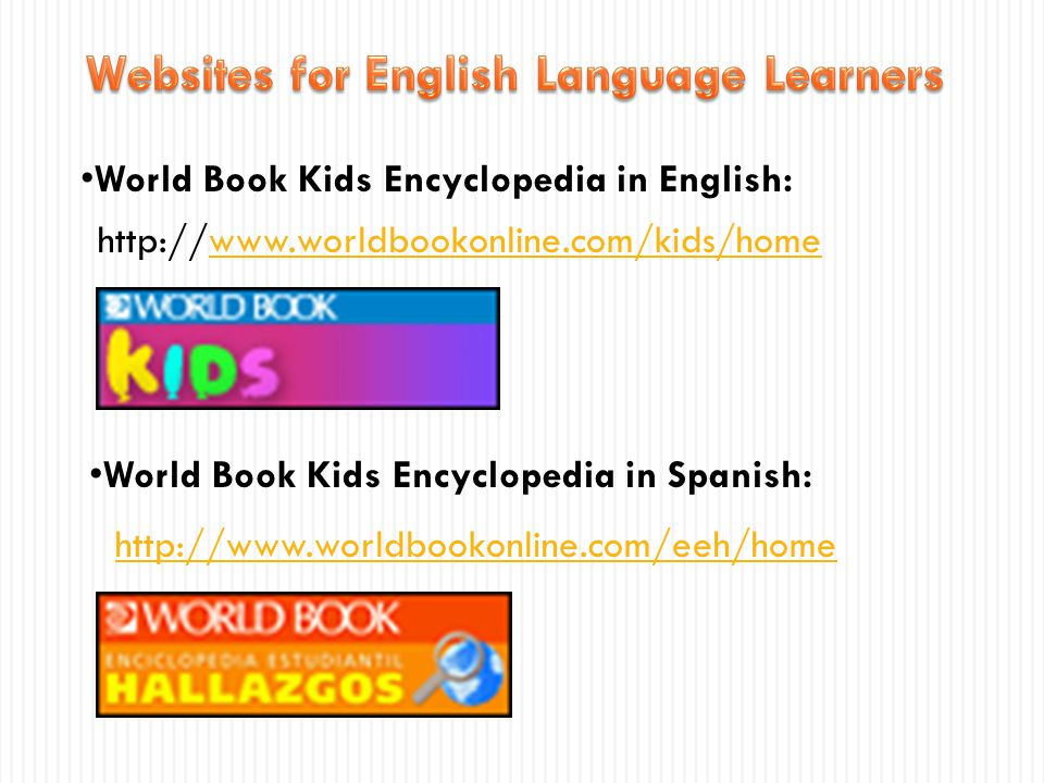 Websites for English Language Learners