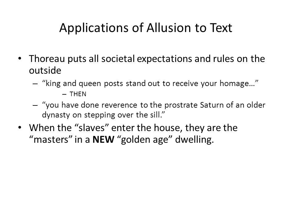 Applications of Allusion to Text
