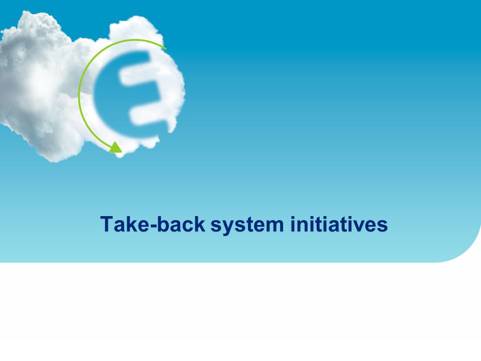 Take-back system initiatives