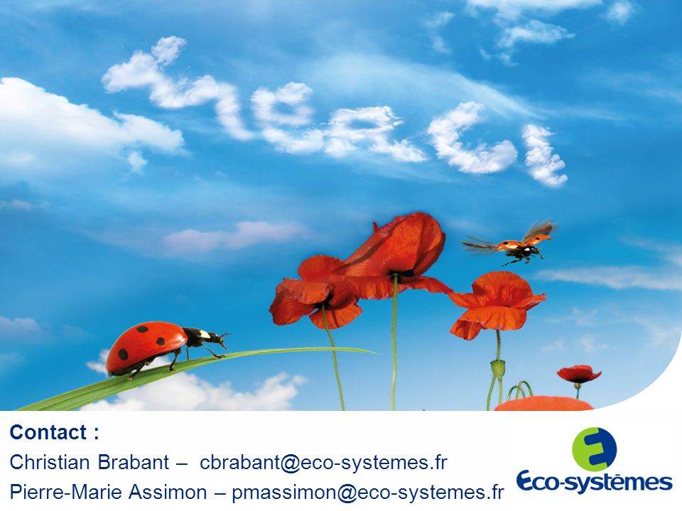 Contact : Christian Brabant – cbrabant@eco-systemes.fr.