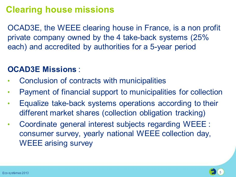 Clearing house missions