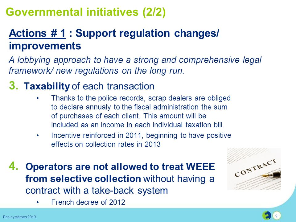 Governmental initiatives (2/2)