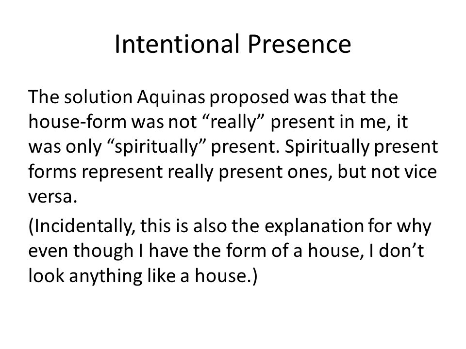 Intentional Presence