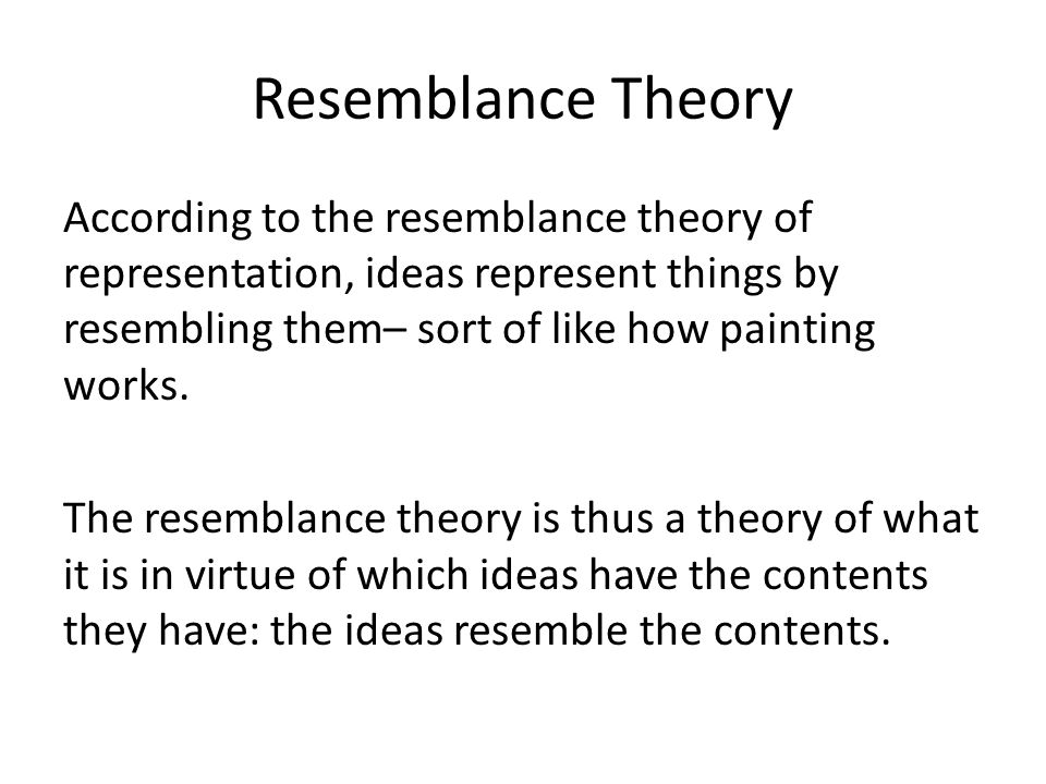 Resemblance Theory
