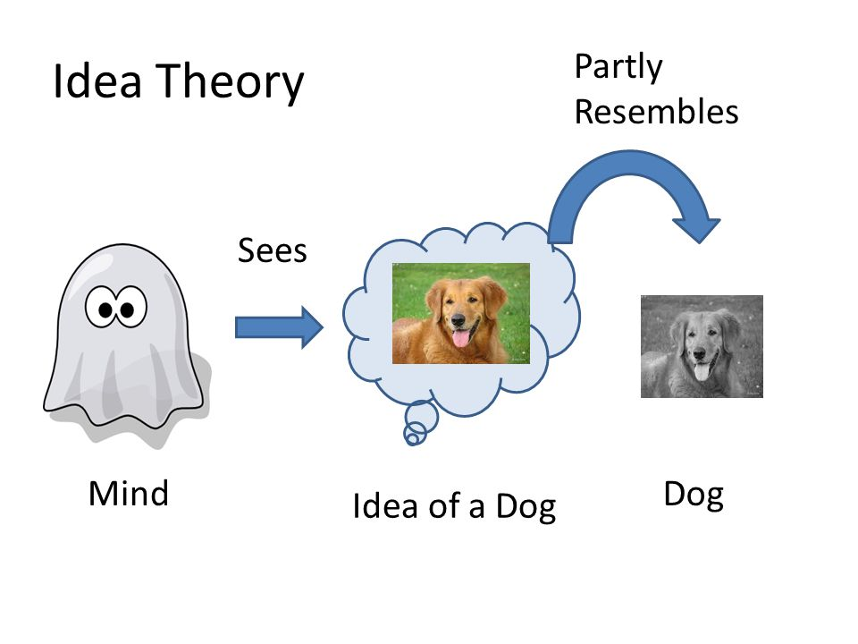 Idea Theory Partly Resembles Sees Mind Dog Idea of a Dog