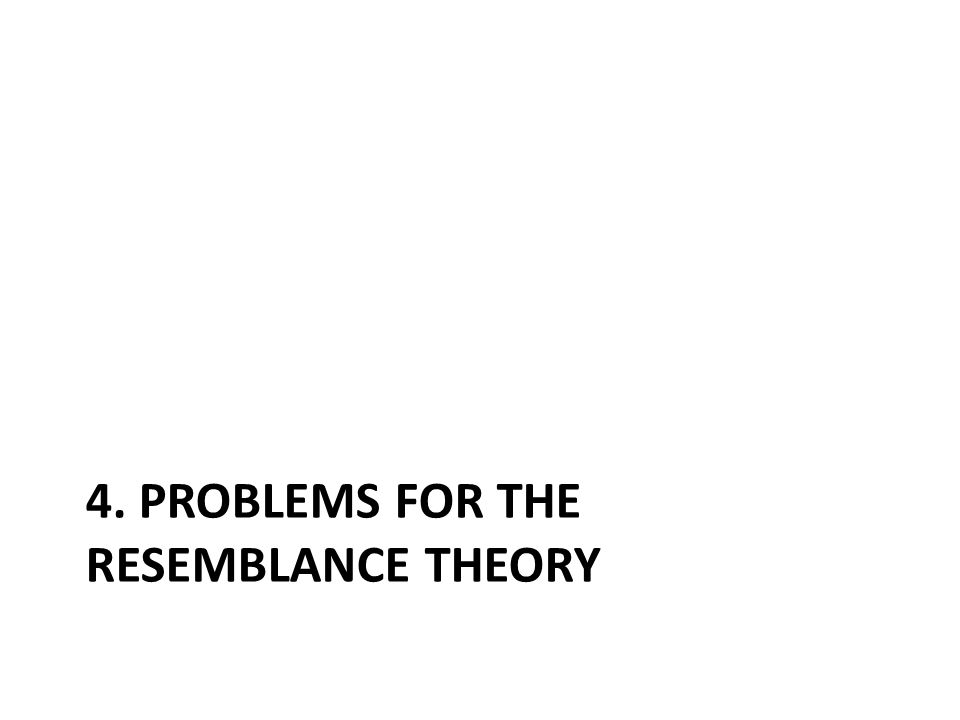 4. Problems for the resemblance theory