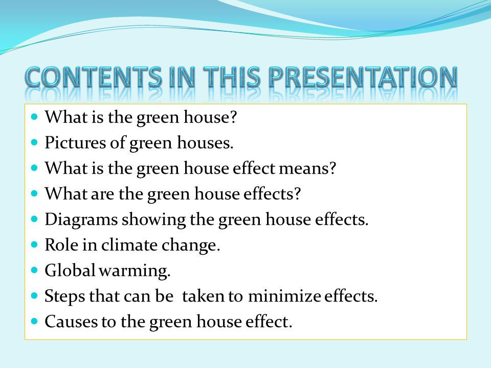 CONTENTS IN THIS PRESENTATION