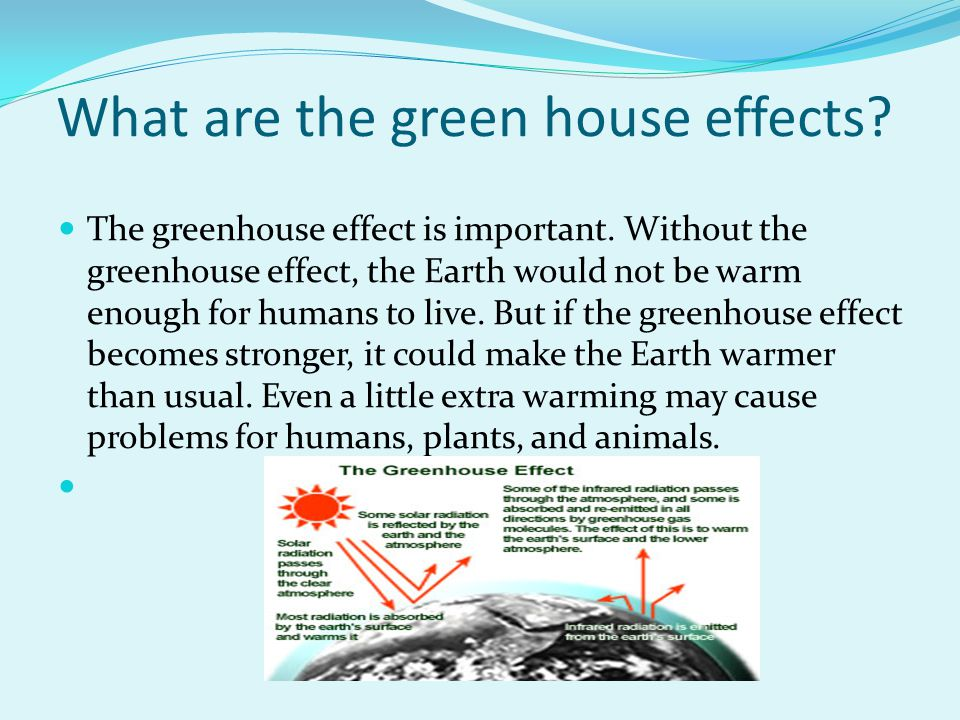 What are the green house effects