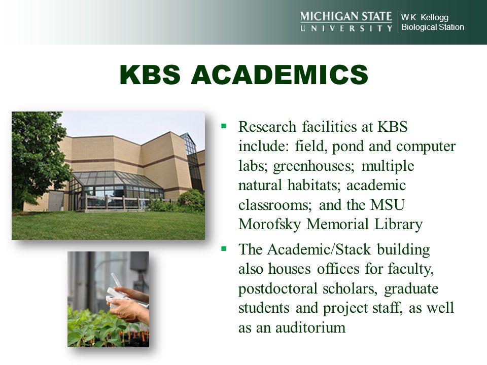 W.K. Kellogg Biological Station. KBS ACADEMICS.