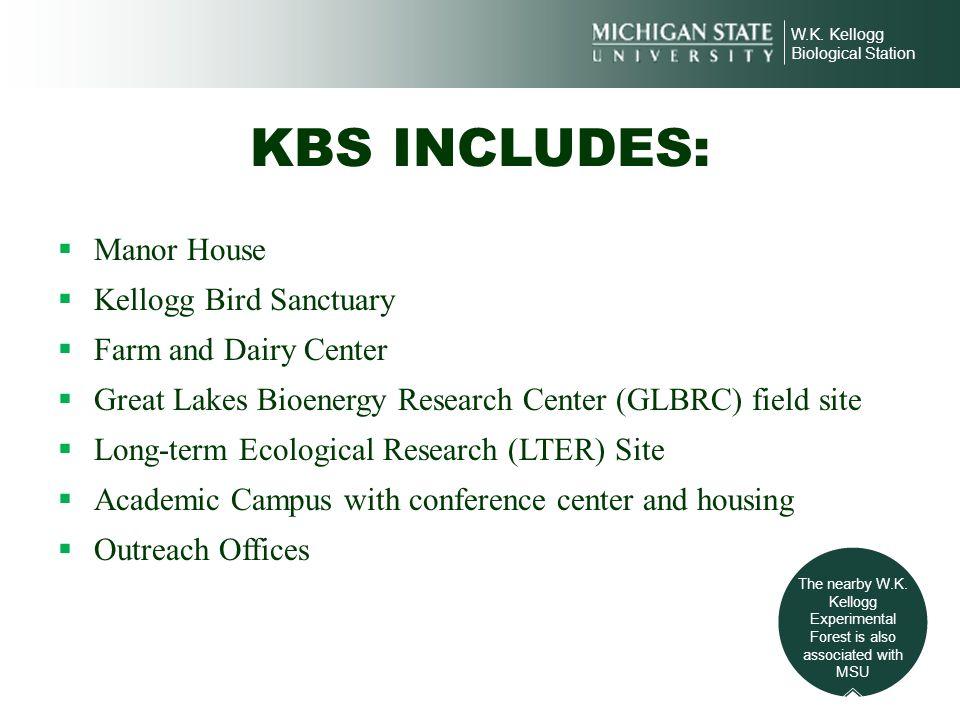 KBS INCLUDES: Manor House Kellogg Bird Sanctuary Farm and Dairy Center