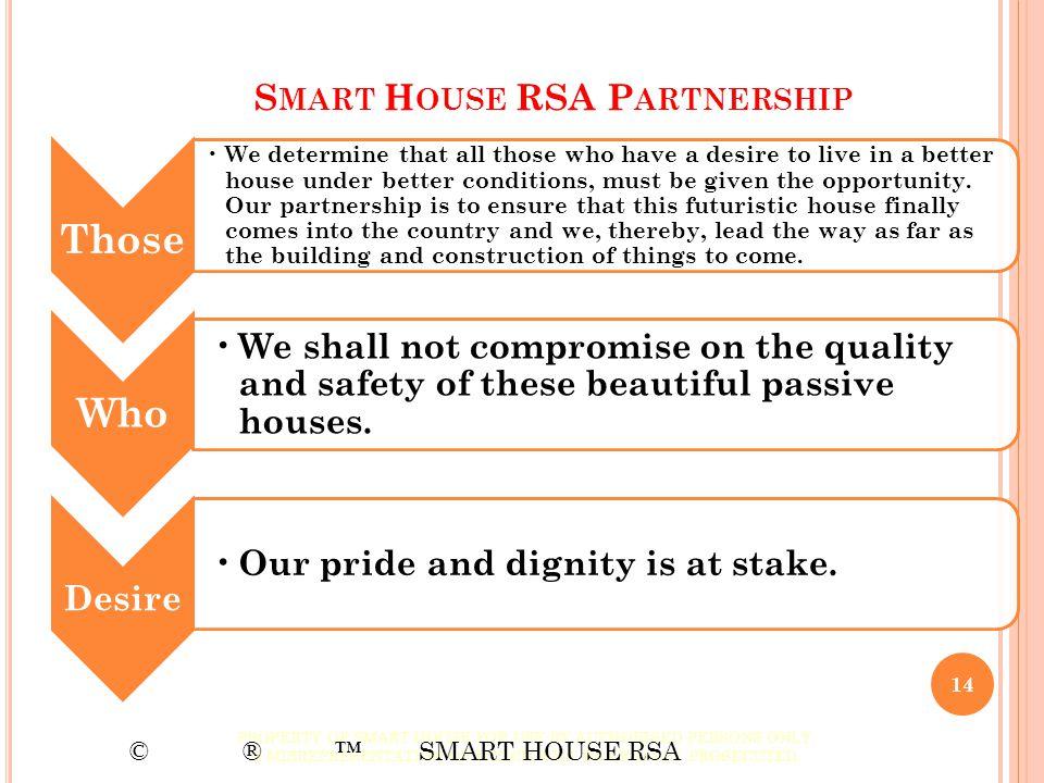 Smart House RSA Partnership