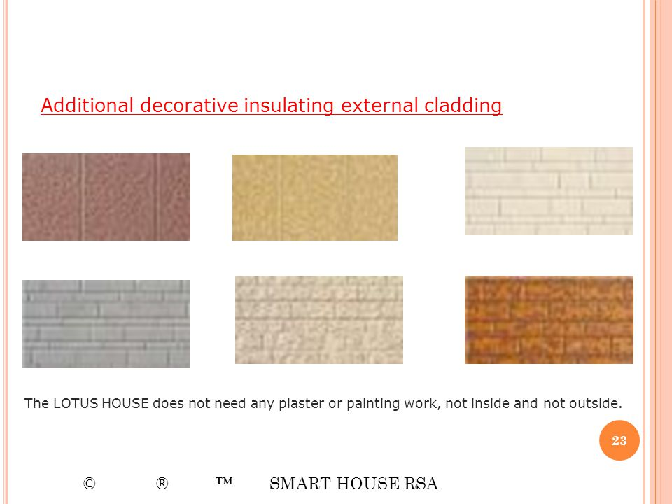 Additional decorative insulating external cladding