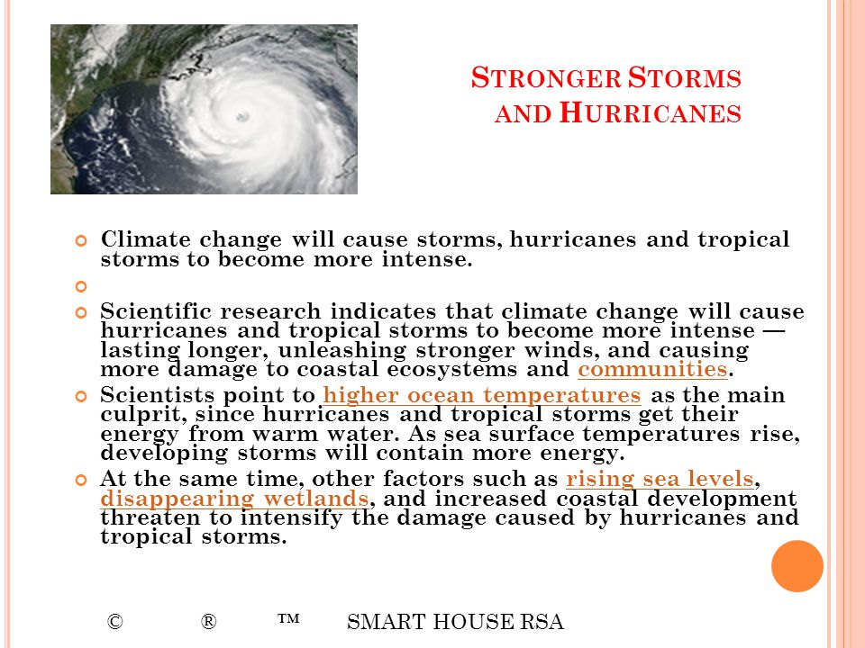 Stronger Storms and Hurricanes