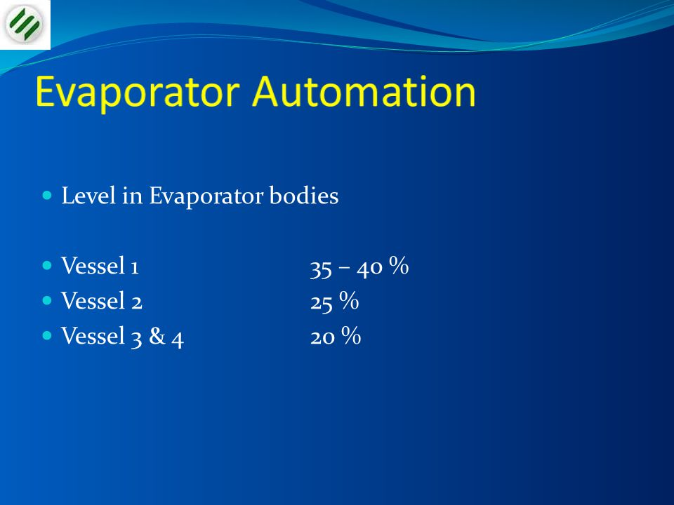 Evaporator Automation