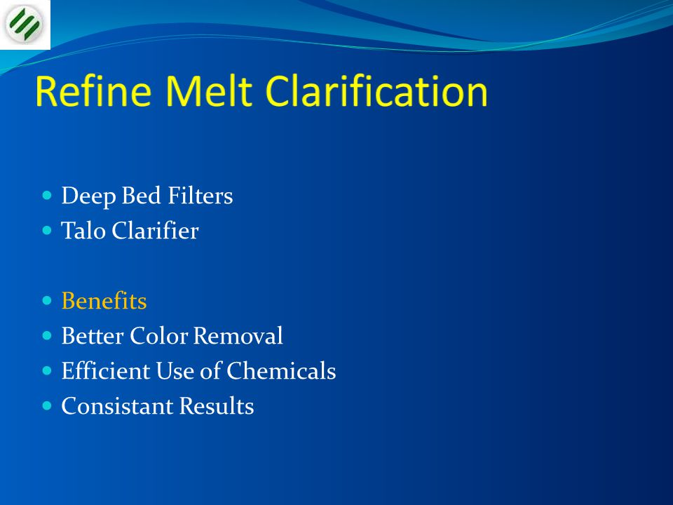 Refine Melt Clarification