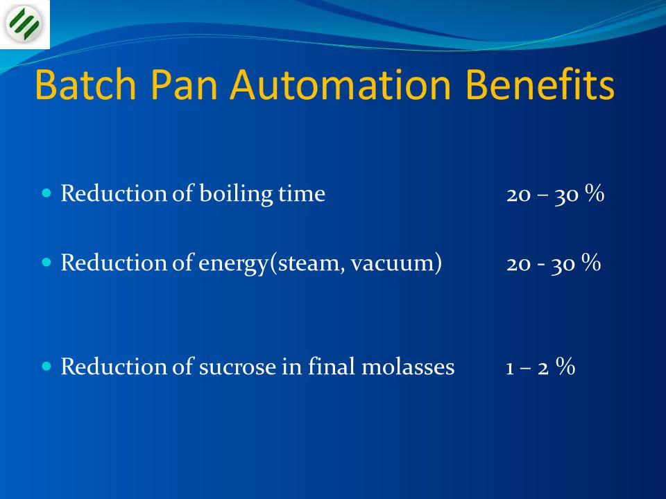 Batch Pan Automation Benefits