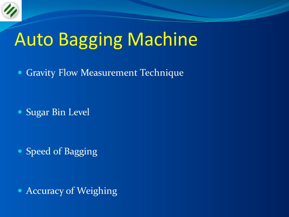 Auto Bagging Machine Gravity Flow Measurement Technique