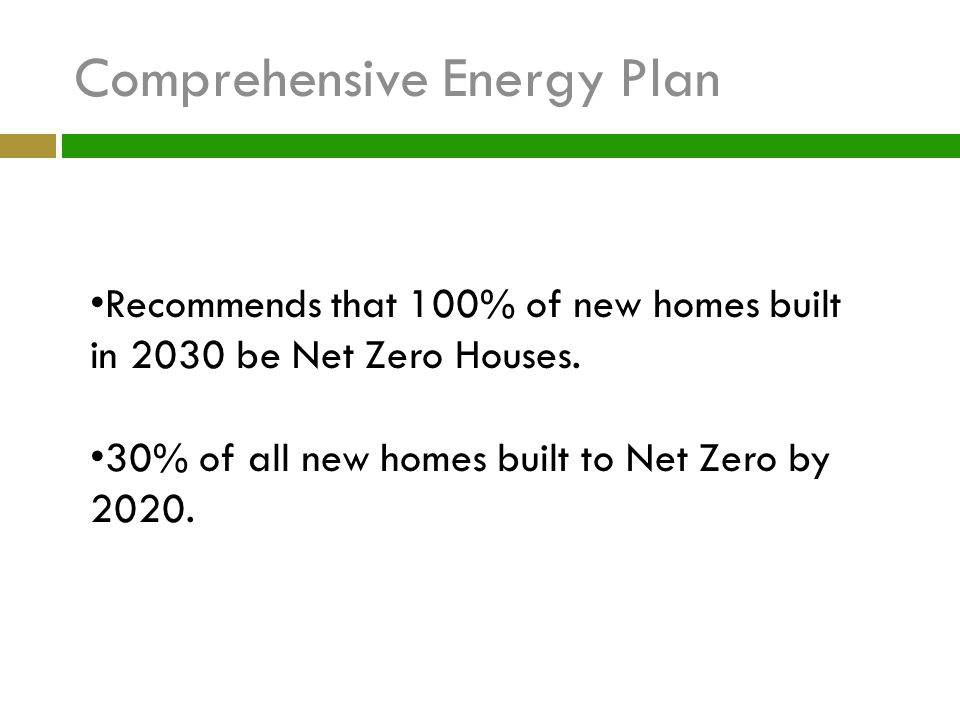 Comprehensive Energy Plan