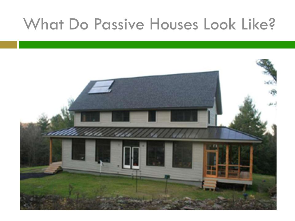 What Do Passive Houses Look Like