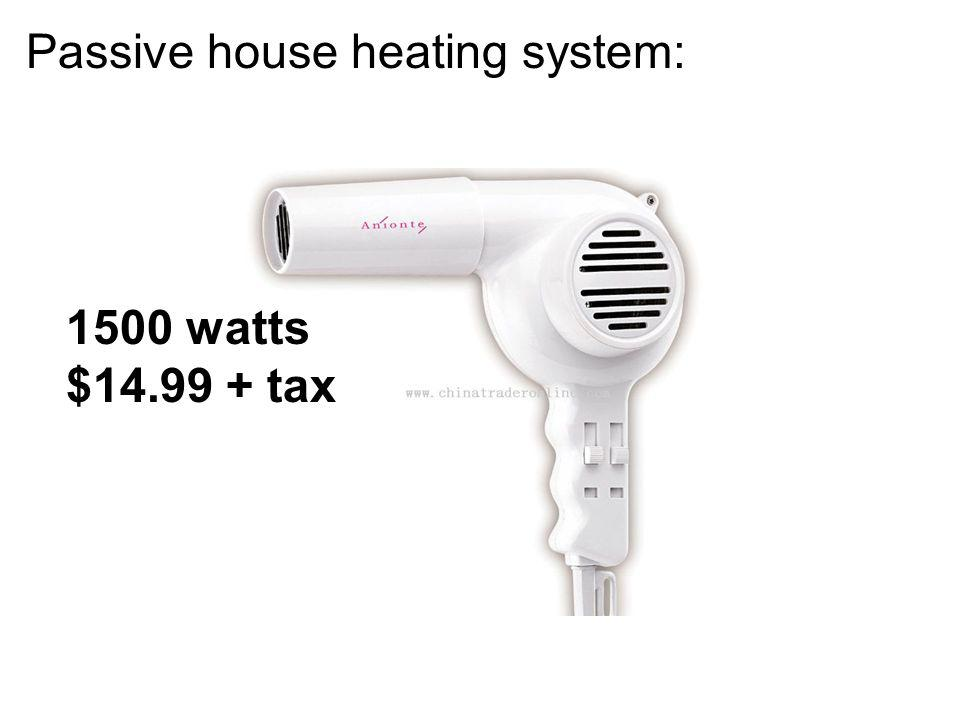 Passive house heating system: