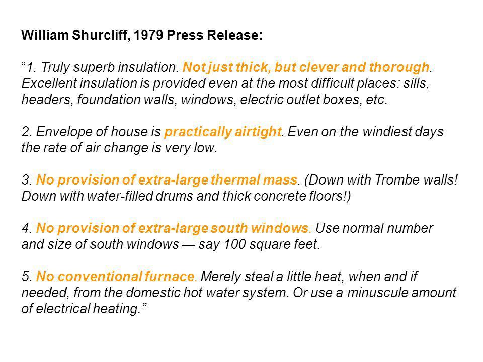 William Shurcliff, 1979 Press Release: