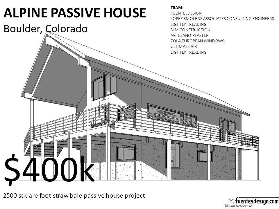 $400k ALPINE PASSIVE HOUSE Boulder, Colorado