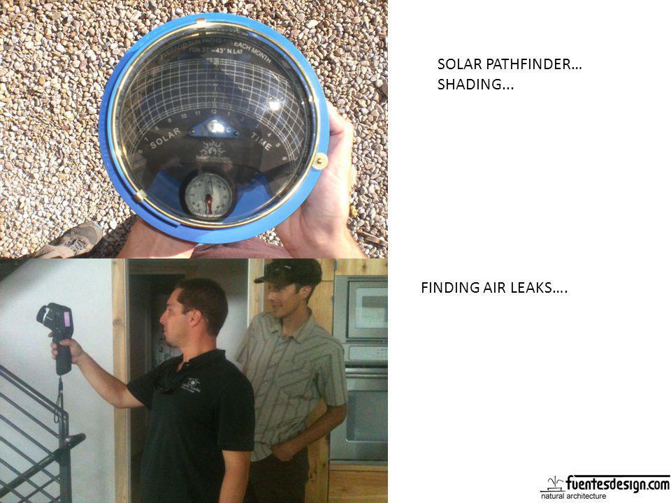 SOLAR PATHFINDER… SHADING... FINDING AIR LEAKS….