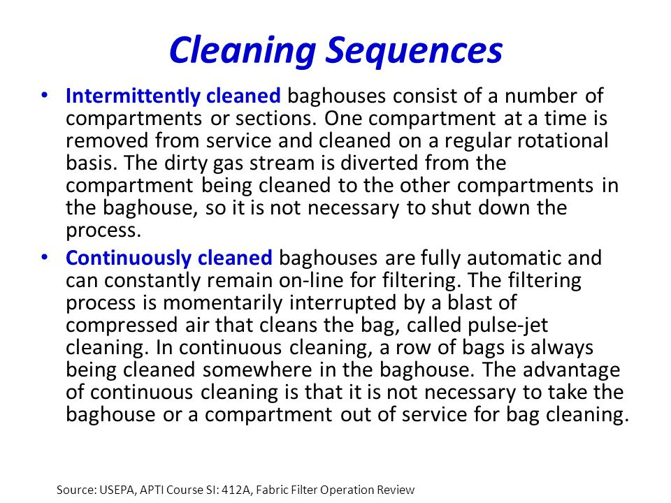 Cleaning Sequences