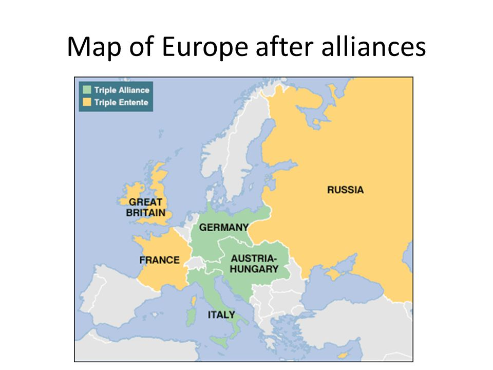 Map of Europe after alliances