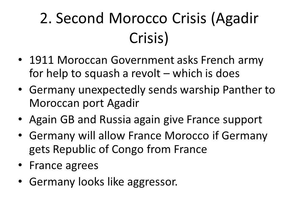 2. Second Morocco Crisis (Agadir Crisis)