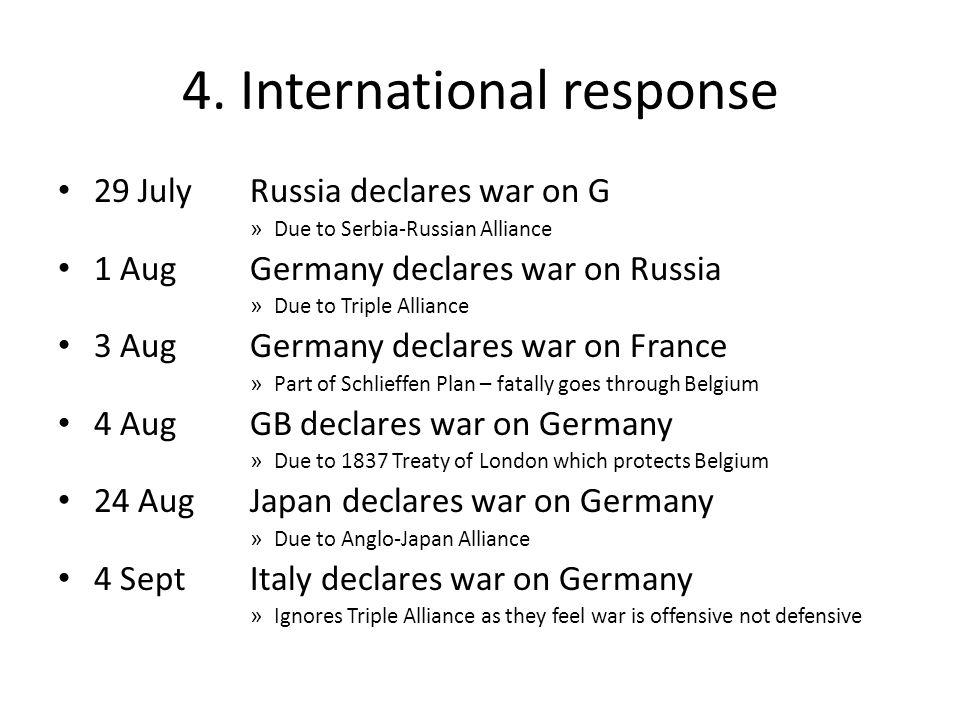 4. International response