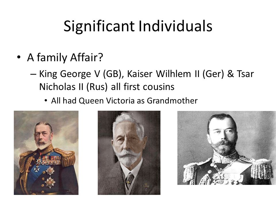 Significant Individuals