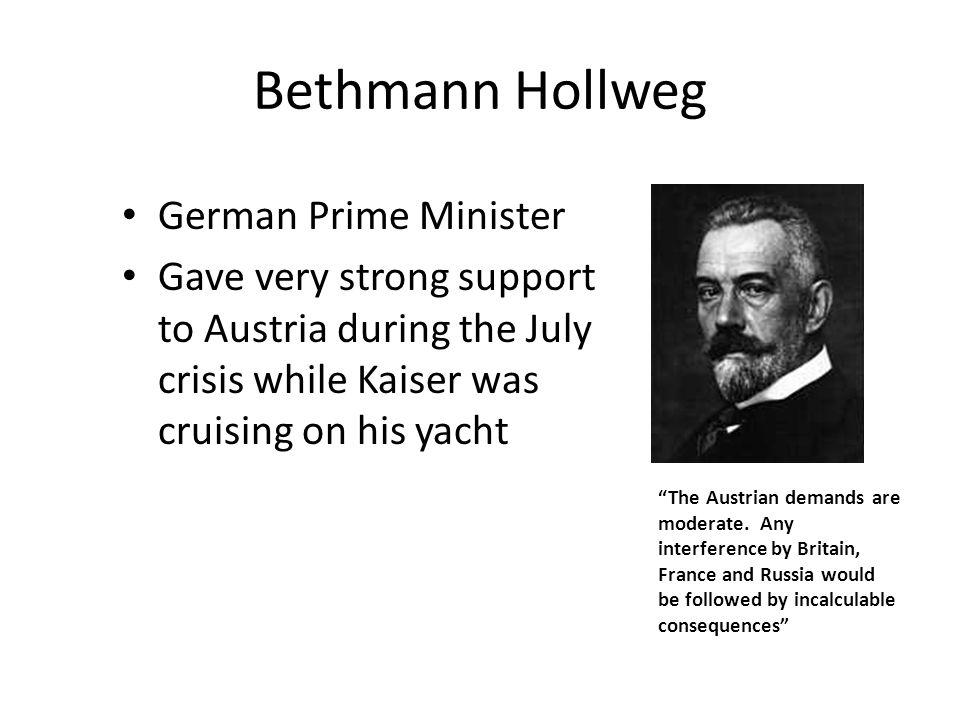 Bethmann Hollweg German Prime Minister